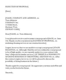 Rejection Letter For Project 10 Bid Rejection Letter Templates Free Premium Templates