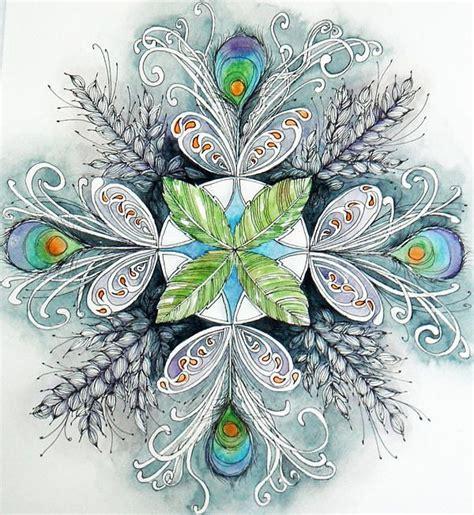 zentangle pattern peacock peacock mandala print by andrea thompson
