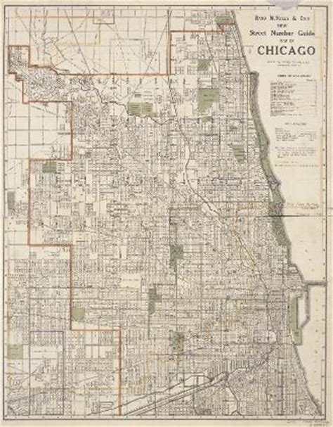 chicago map with numbers encyclopedia of chicago