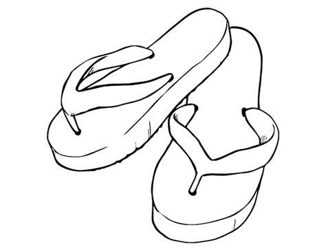 mewarnai gambar sandal jepit contoh anak paud