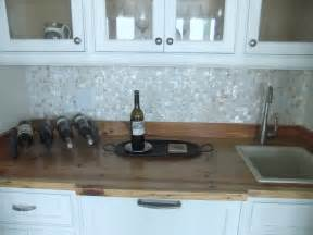 of pearl backsplash construction