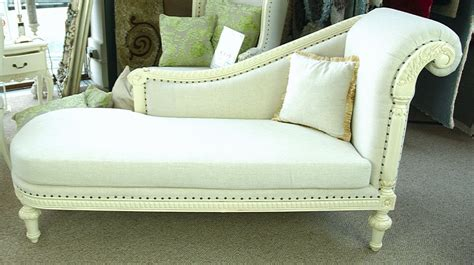 stone ornate french shabby chic linen antique white chaise
