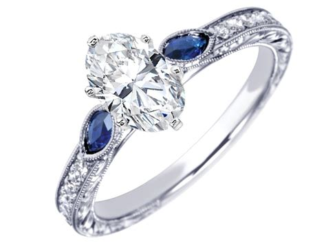 benitoite engagement ring 100 benitoite engagement ring groupon ring