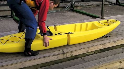 sectional kayak snap kayaks the snap ontop youtube