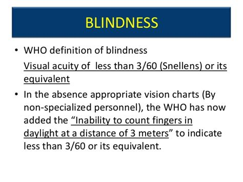 Meaning Of Blind blindness