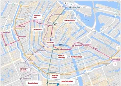amsterdam museum district map best amsterdam tram map for tourists almere tours