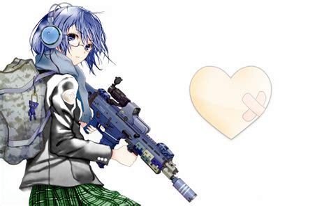 anime girl wallpaper funny anime gun girl 497610 walldevil
