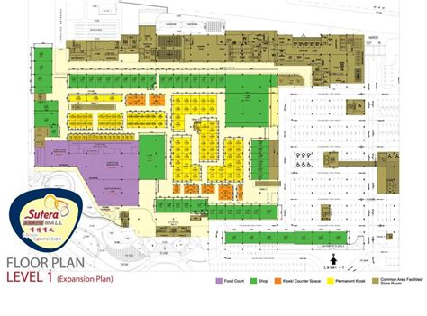 shopping centre floor plan floor plan sutera mall shopping mall in johor bahru