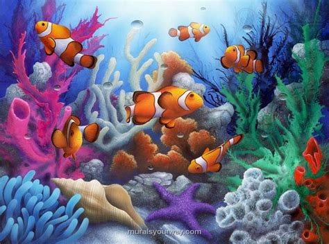 World Marine Df5094 Stiker Dinding Wall Sticker 17 best images about fish mural on dolphins