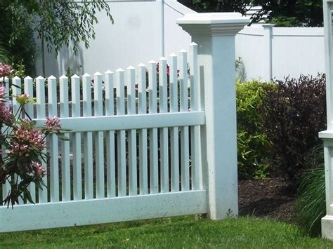 picket fence sections 20 best vinyl fencing images on pinterest vinyl picket