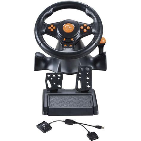 volante playstation 2 volante 3 em 1 s fio c marcha acoplada ps3 ps2 pc js074