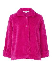 Bed Coat by Slenderella Button Up Soft Waffle Fleece Bed Jacket