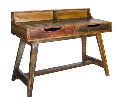 reclaimed wood writing desk kruger reclaimed wood writing desk by reason season time