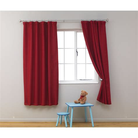 red bedroom curtains kids blackout curtains 66in x 54in red at wilko com boys
