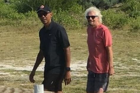 obama necker island barack and obama enjoy well earned with