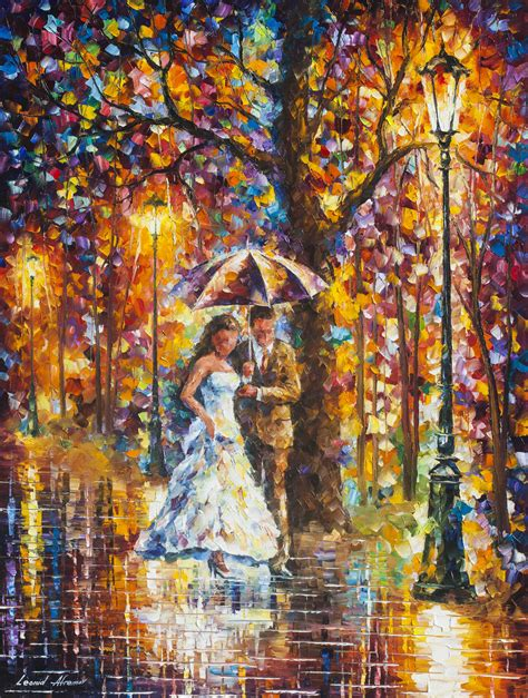 best painting dream wedding original oil painting on canvas by leonid