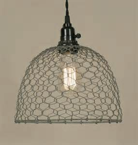 chicken wire pendant light barn roof chicken wire dome pendant l light lighting