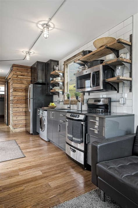 Small Homes Kitchens Tiny House Town Freedom From Minimalist Homes 300 Sq Ft