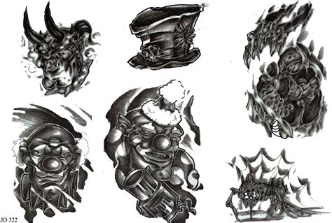 clown tattoo designs black white 40 best clown designs