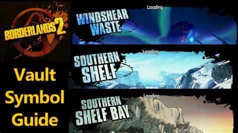 Southern Shelf Vault Symbols by Borderlands 2 Vault Symbols Windshear Waste Southern