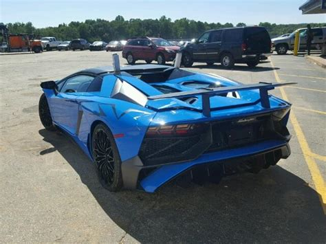Wrecked Lamborghini by Lamborghini Aventador Sv Roadster Wrecked After Just 100 Km S