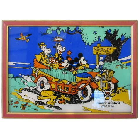 Sale Vintage The Side Of Mickey Mouse Wall Dekorasi 3 vintage walt disney mickey mouse painted 1930s by reliance at 1stdibs