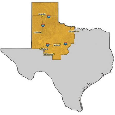 texas panhandle map of cities texas map panhandle