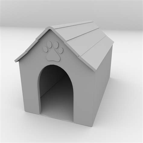 dog house models dog house 3d model 3ds fbx blend dae cgtrader com