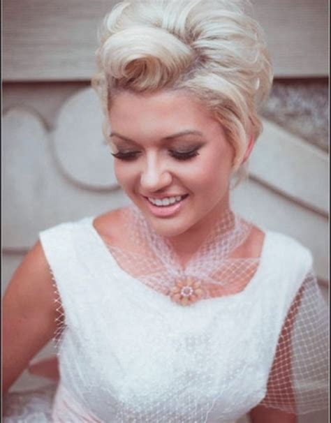 vintage wedding hairstyles for short hair   Hollywood Official