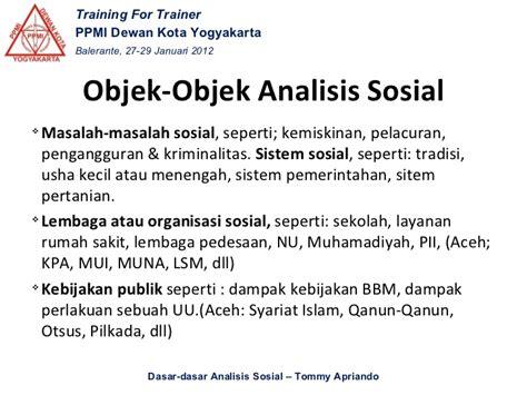 Analisis Masalah Sosial materi analisis sosial