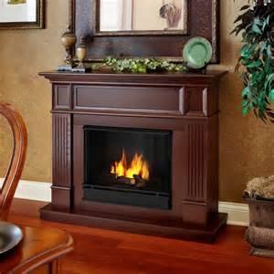 real mahogany camden convertible gel fireplace