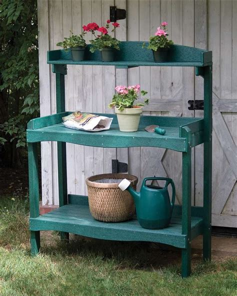 plastic potting bench 17 best images about garden potting bench on pinterest