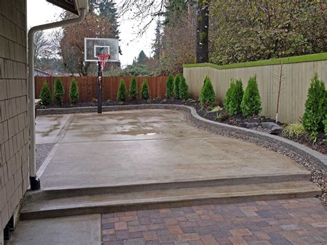 Backyard Concrete Slab Ideas Triyae Cement Backyard Various Design Inspiration For Backyard