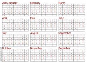 Whole Year Calendar Template year calendar to print calendar template 2016