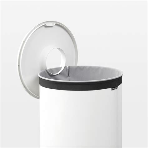white laundry with lid buy brabantia laundry bin white with white plastic lid