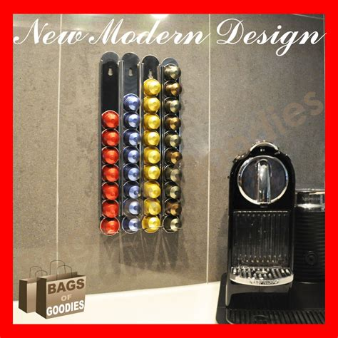 Coffee Pod Rack by New Nespresso Capsules Coffee Pod Holder Wall Dispenser