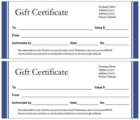 gift card log template get a free gift certificate template for microsoft office