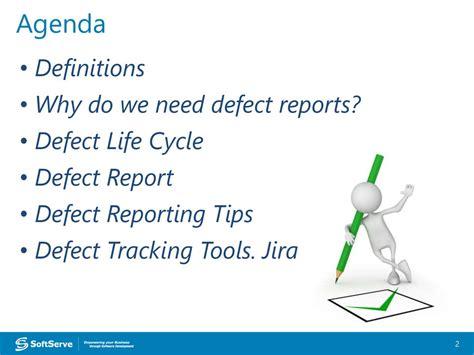 design defect definition defect tracking online presentation