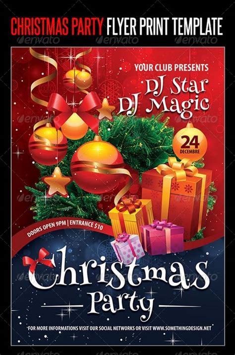 Graphicriver Christmas Party Flyer Print Template Graphicriver Event Flyer Template