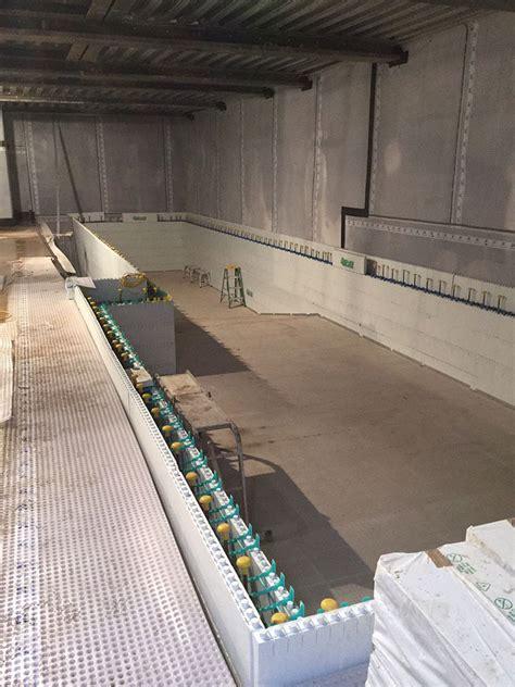 Swimming Pool wall construction using Quadlock