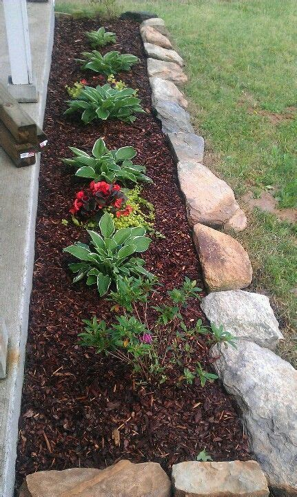 rock for flower bed border for the garden