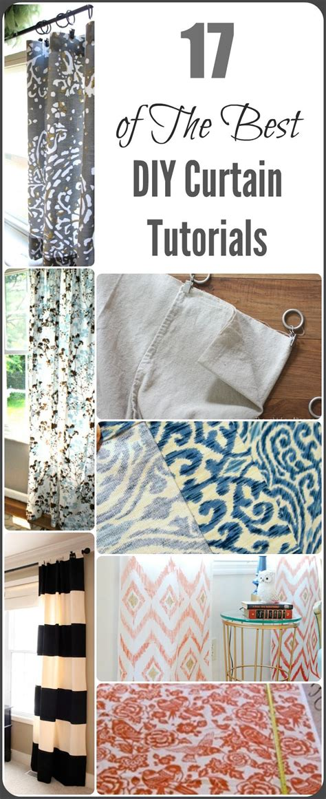vorhange nahen tutorial diy curtain ideas and tutorials painted furniture