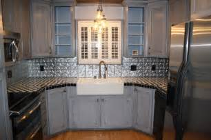 Tin Tiles For Backsplash In Kitchen Tin Backsplash Kitchen Backsplashes Contemporary