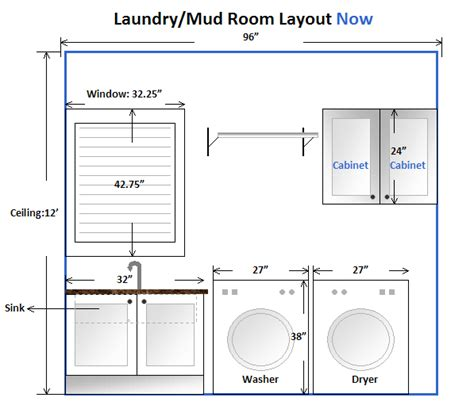 design a laundry room layout laundry room layout with measurements google search