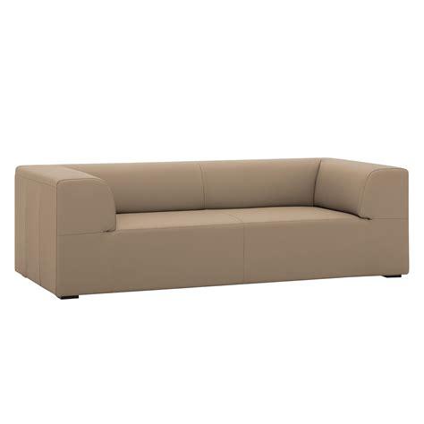 couch seed sofa seed 3 sitzer echtleder echtleder gad taupe