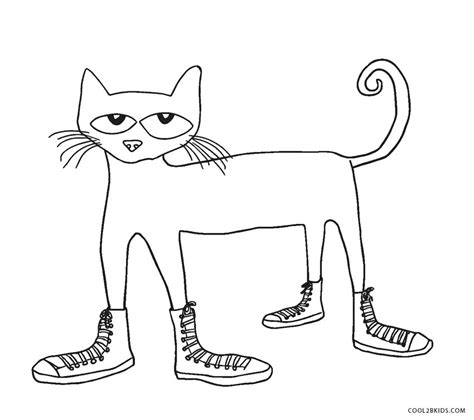 pete the cat coloring page shoes free printable cat coloring pages for kids cool2bkids