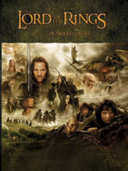 Trilogi Musik the lord of the rings trilogy sheet by howard shore
