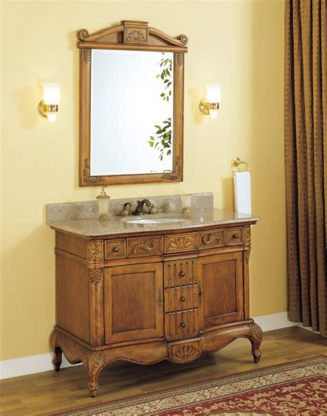 single sink bathroom vanity  peach granite counter top uveiy
