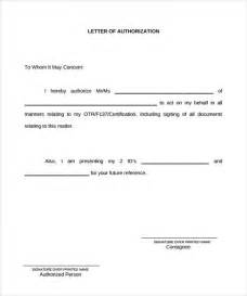 exle of authorization letter 7 in
