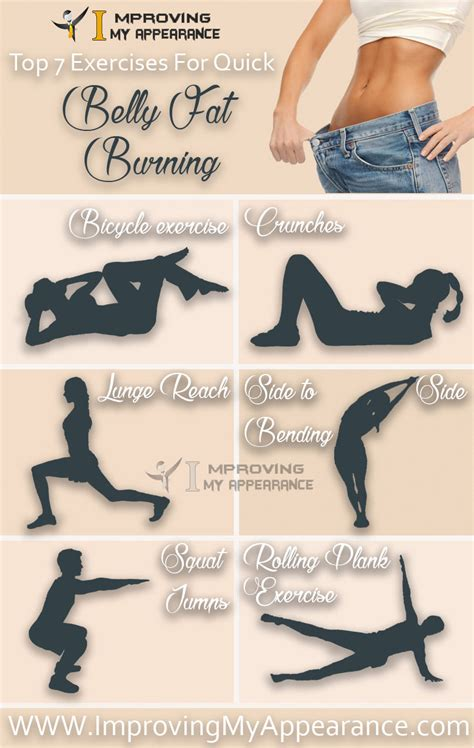 top 7 exercises for belly burning tummy reduction improving my appearance